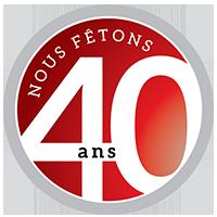 40 ans logo