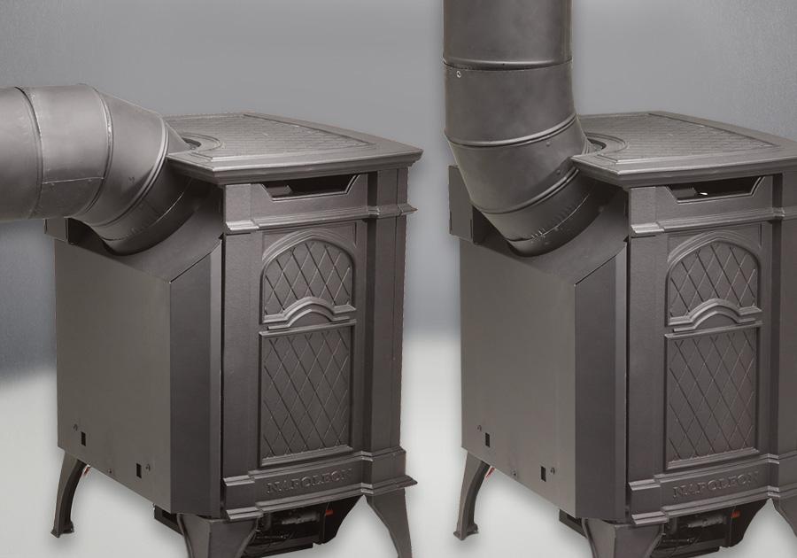 Buse d'évent en 45° pour des installations horizontales ou verticales