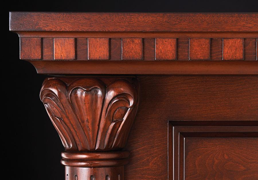 Moulure décorative dentelée en bois massif sculptées à la main