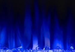 Jeu de flammes bleu