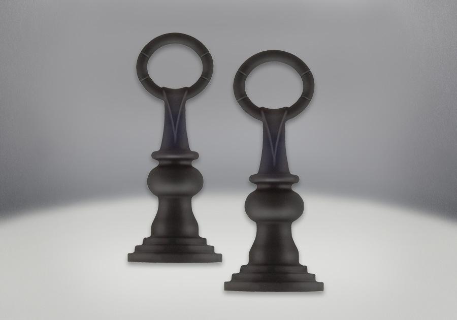 Bornes de chenet, fini peint noir