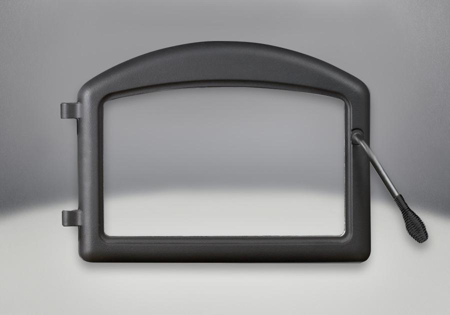 Portes arquées fini peint noir métallique