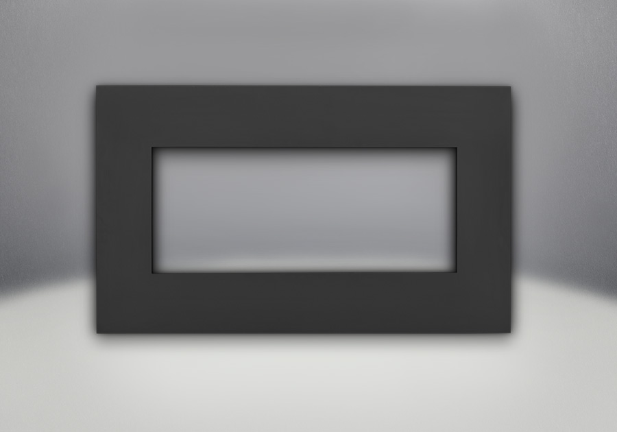 Façade en fini peint noir