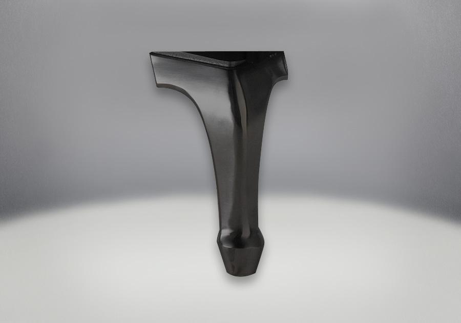 Fonte en fini noir métallique élégant