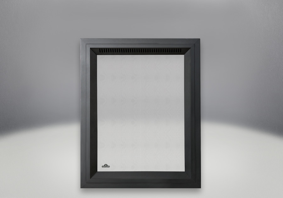 Façade rectangulaire Fini peint noir