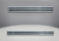 Persiennes supérieures et inférieures Acier inoxydable brossé (incluses)