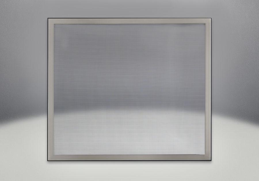 Façade classique illustrée avec un revêtement en fini inoxydable brossé et un écran de protection
