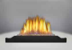 Brûleur avec braises de verre CRYSTALINE<sup>MD</sup> topaze