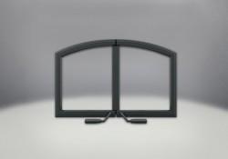 Portes arquées en fonte en fini peint noir