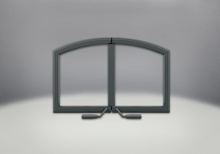 Portes arquées en fini fer forgé