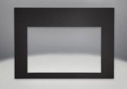 Façade contemporaine rectangulaire porcelaine émaillée noire