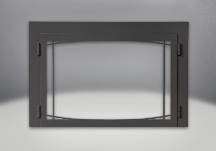 Porte contemporaine Zen - fini peint noir