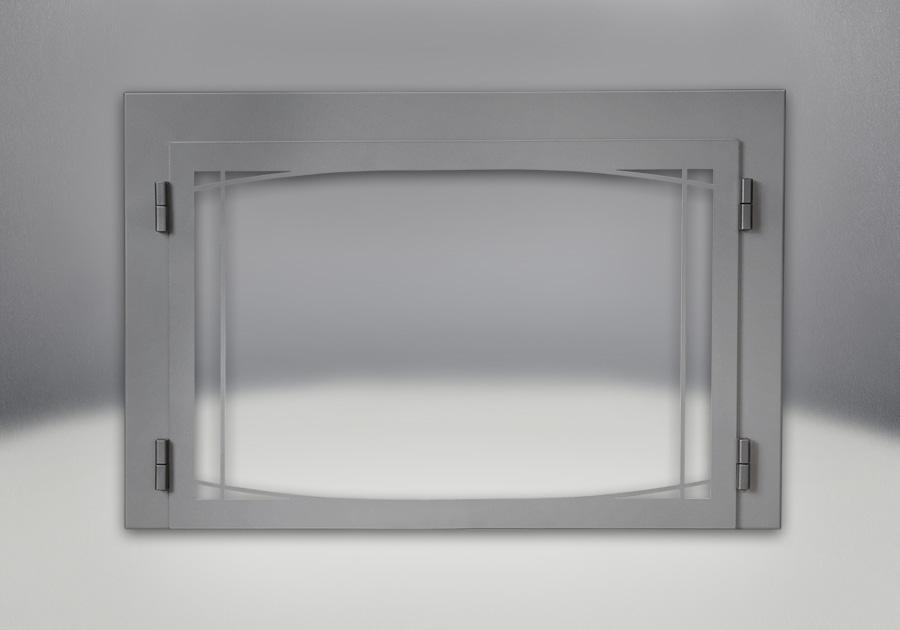 Porte contemporaine Zen - fini fer forgé