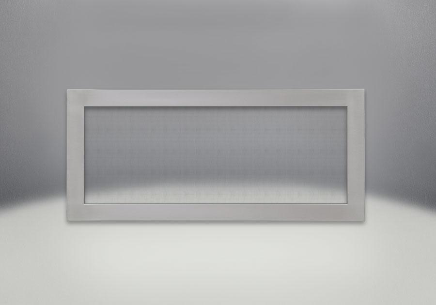Cadre affleurant avec écran de protection en acier inoxydable