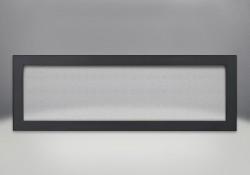Cadre affleurant avec écran de protection et revêtement en poudre noir