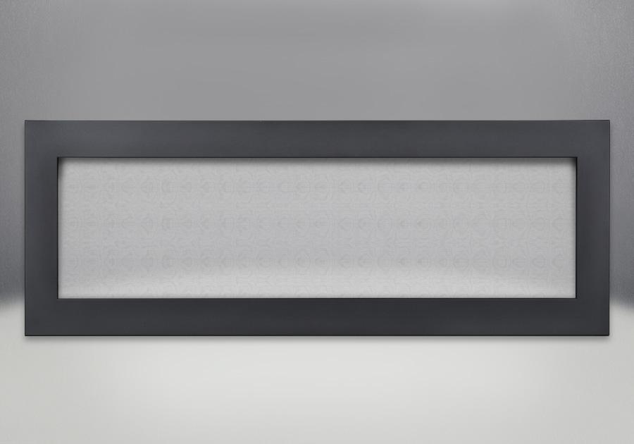 Contour avec écran de protection et revêtement en poudre noir