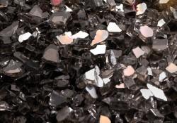 Ensemble décoratif de braises de verre - Noir