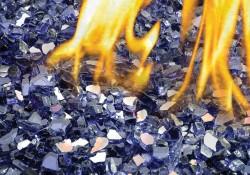 Ensembles décoratifs de braises de verre - Bleu