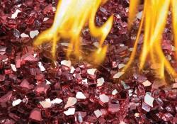 Ensembles décoratifs de braises de verre - Rouge