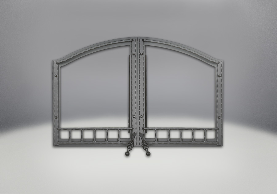Portes arquées en fer forgé