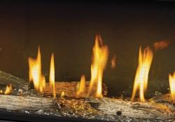 Panneaux réflecteurs radiants en porcelaine MIRO-FLAMME<sup>MD</sup>, billes de verre transparentes, ensembles Beach Fire sans les braises topaze et la vermiculite