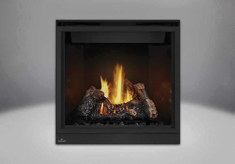Bûches PHAZER<sup>®</sup>, panneaux réflecteurs radiants en porcelaine MIRO-FLAMME<sup>MD</sup> et écran de protection