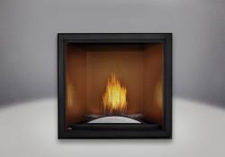 Plateau décoratif arqué, panneaux réflecteurs radiants en porcelaine MIRO-FLAMME<sup>MD</sup> cappucino et écran de protection