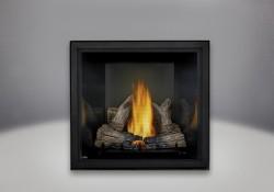 Bûches PHAZER<sup>®</sup>, panneaux réflecteurs radiants en porcelaine MIRO-FLAMME<sup>MD</sup> noirs et écran de protection
