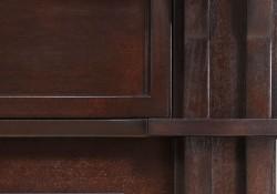 Colonnes latérales décoratives en bois franc massif