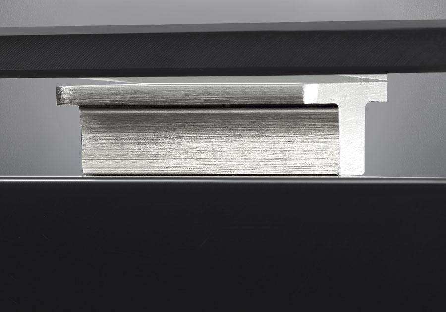 Supports rectangulaires décoratifs en aluminium brossé