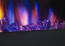 Façade noir mat et écran décoratif