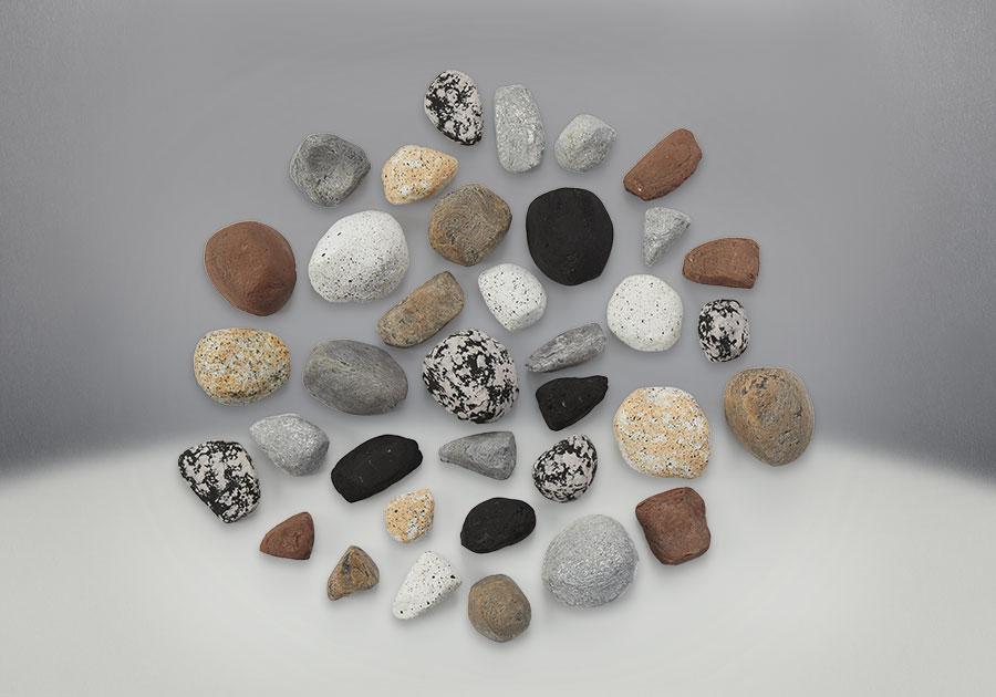 Ensemble Mineral Rock. Comprend des roches de diverses formes, tailles et couleurs