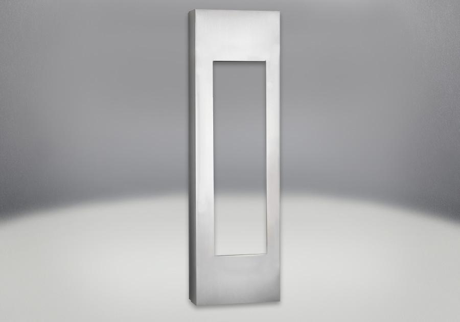 Cabinets réglables en fini acier inoxydable brossé