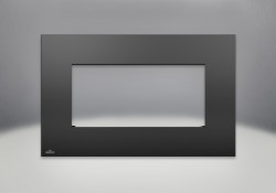 Contour rectangulaire en fini peint noir