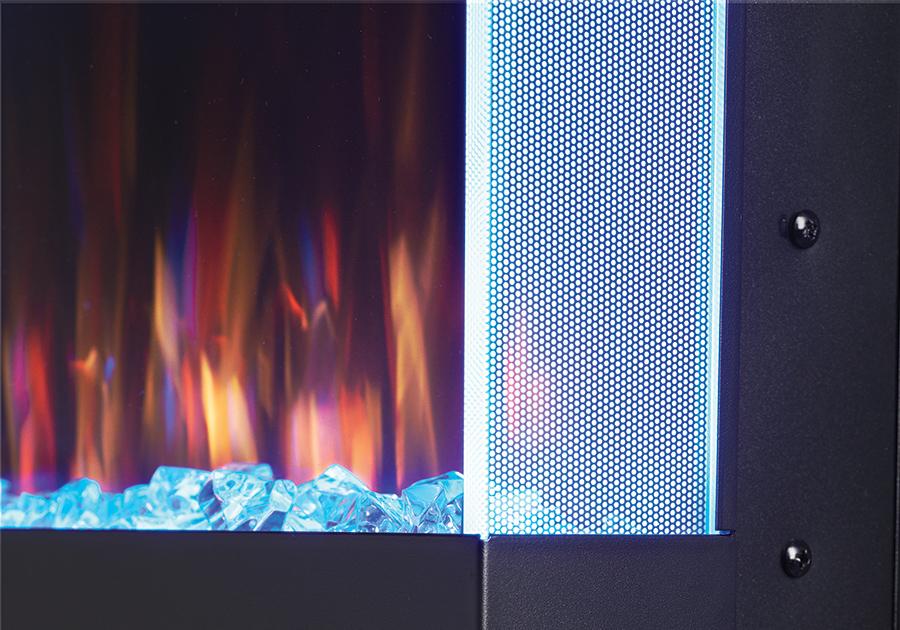 Lumières d'appoint latérales <br><small>(blanc, bleu, vert, rouge, jaune et violet)</small>