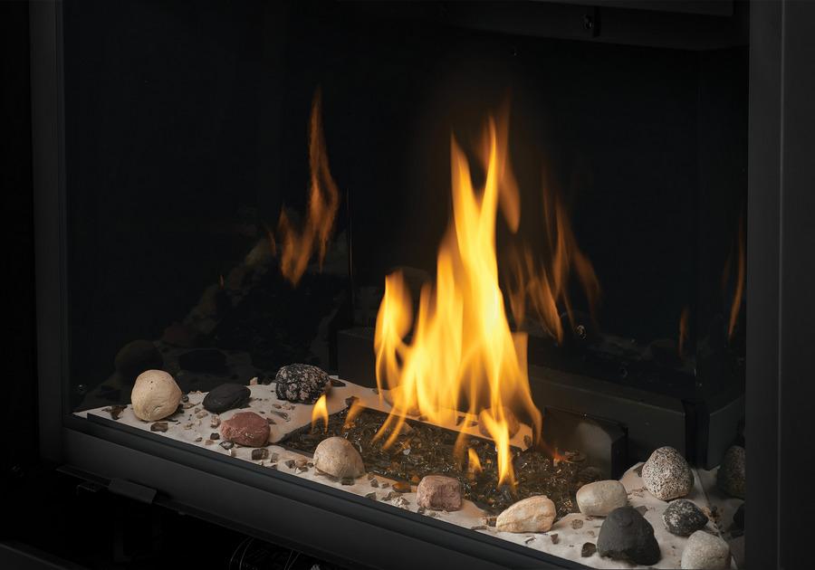 Ensemble Shore Fire. Comprend des roches, du sable, de la vermiculite et du verre