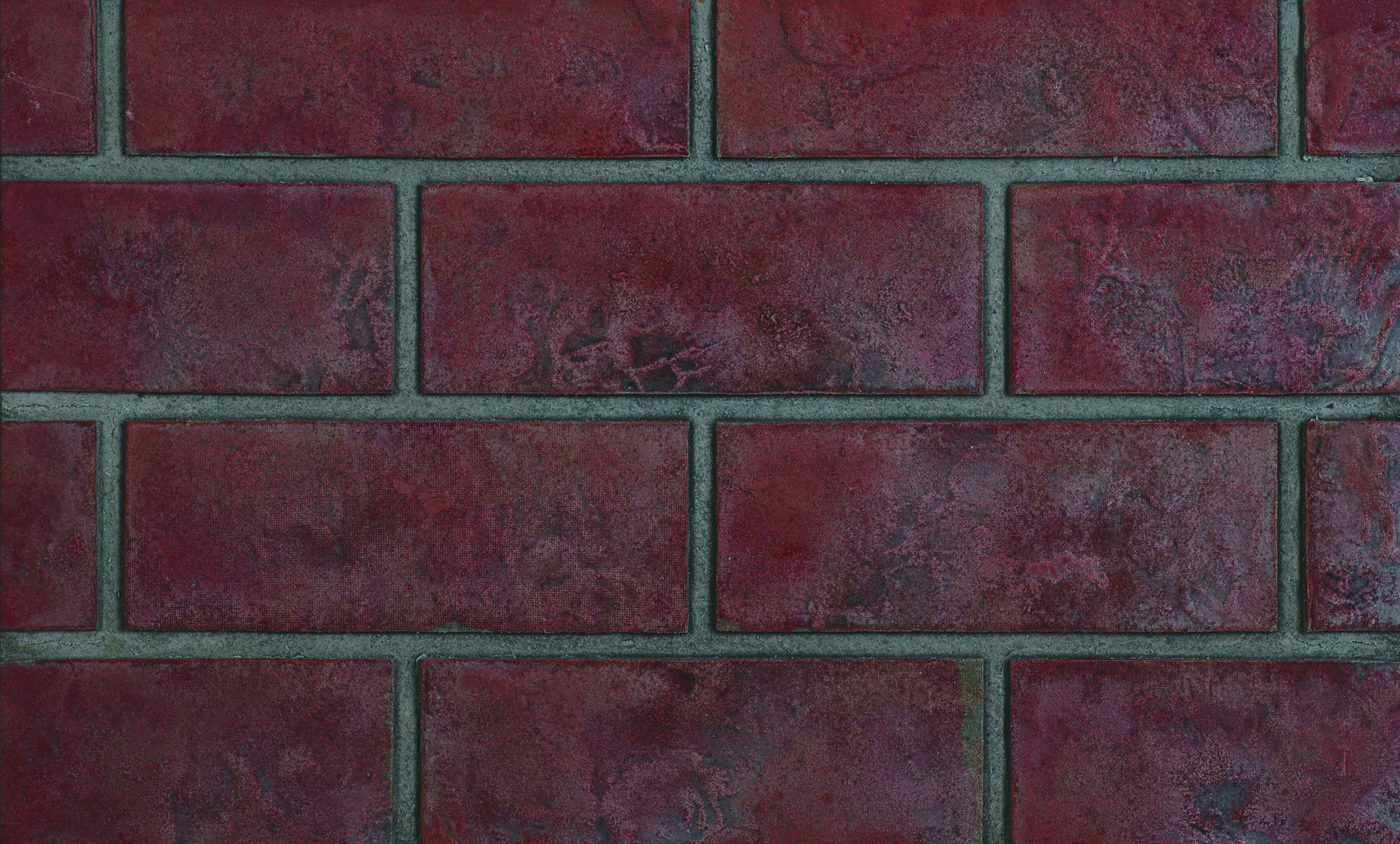 Panneaux décoratifs simili-briques rouge rustique classique