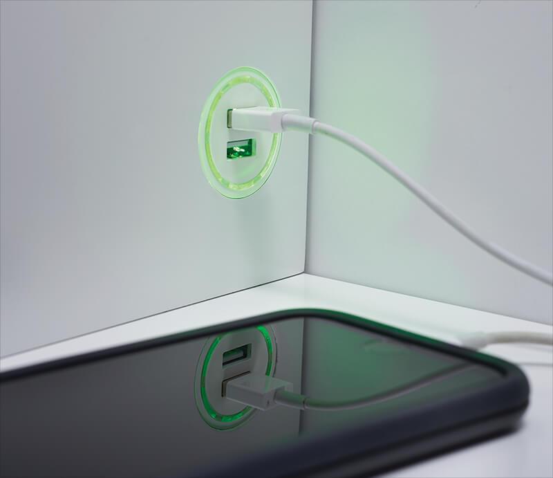 Port de chargement USB 2.0 double (vert)