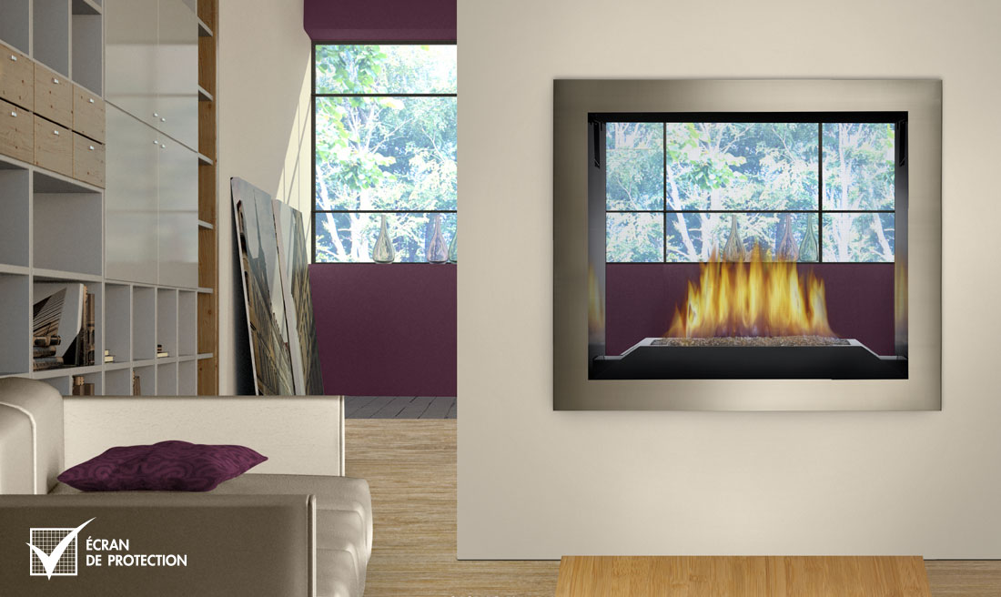 Napoleon HD81 see through fireplace