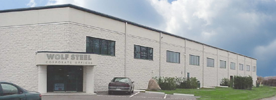 Napoloen Wolf Steel Corporate office Barrie Ont
