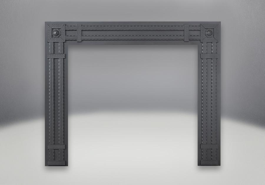 Façade décorative rectangulaire en fer forgé