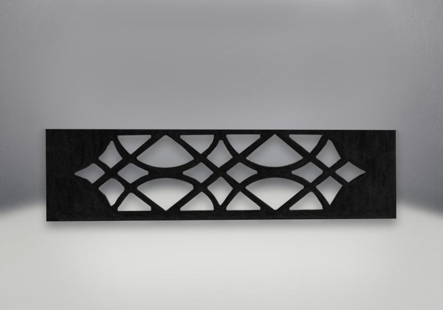 Grille ornementale fini peint noir métallique