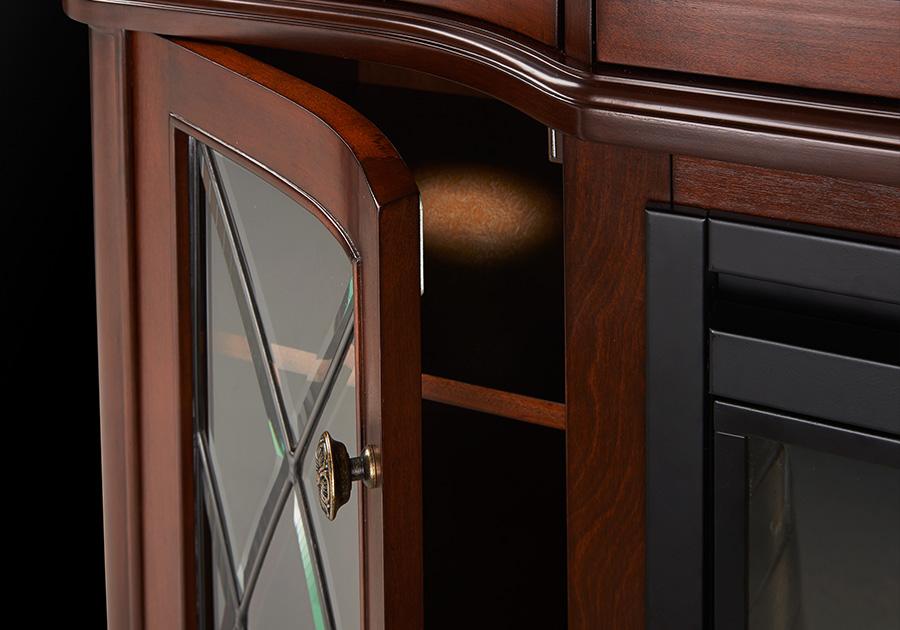 Porte cambrée en verre avec lumières DEL intérieures