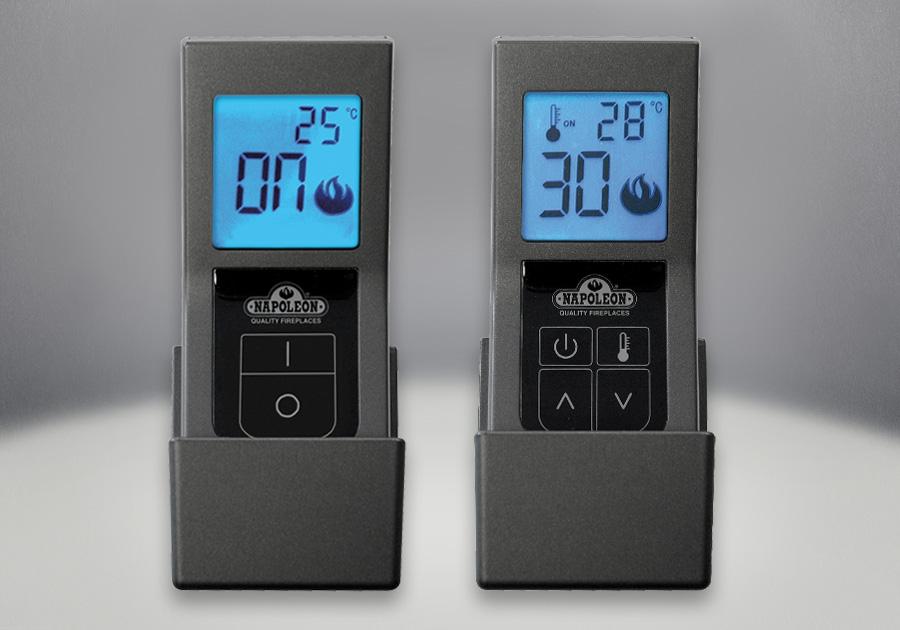 Télécommandes marche/arrêt F45 ou à contrôle thermostatique F60, avec affichage numérique