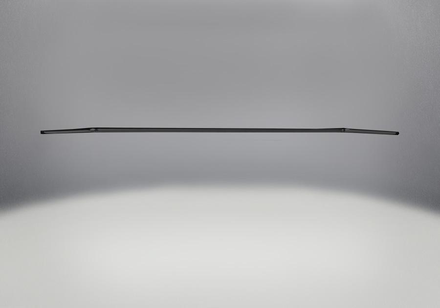 Barre d'accent en fini peint noir métallique