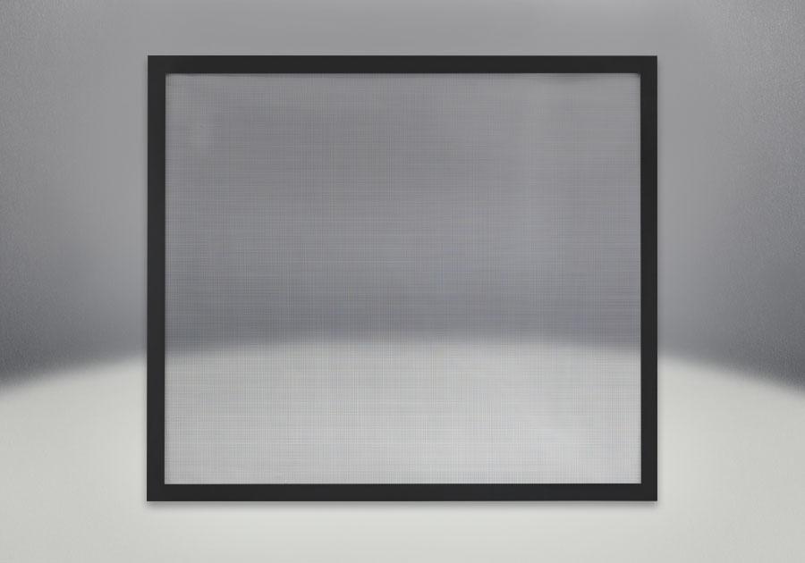 Façade classique illustré en fini noir avec un écran de protection