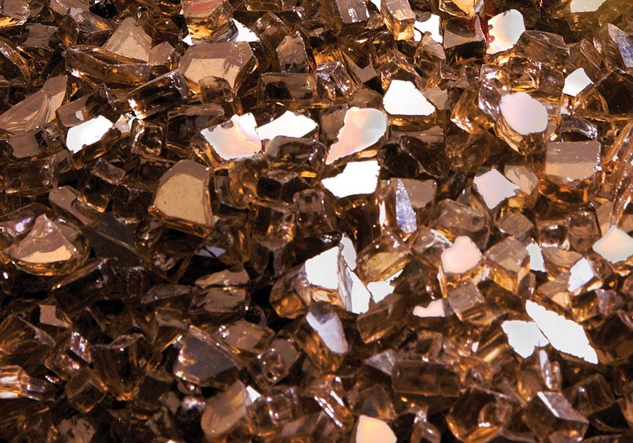 Ensemble décoratif de braises de verre - Ambre