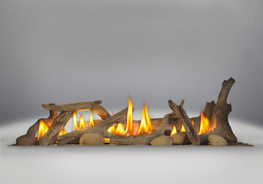 Ensemble de bûches de bois flotté (comprend des bûches et six roches de rivière) (optionnel)