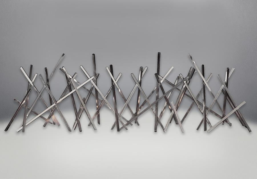 Bâtonnets décoratifs plaqués nickel