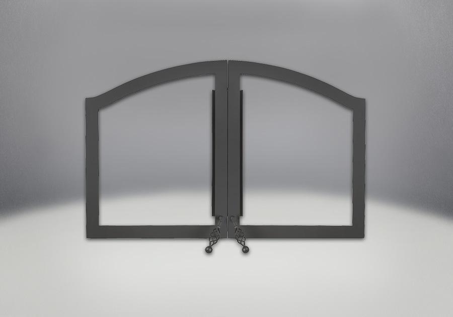 Portes arquées peintes noir
